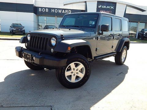Pre-Owned 2015 Jeep Wrangler Unlimited Sport | BOB HOWARD BUICK GMC 405.936.8800 | LOW LOW MILES! | HARDTOP | AUTO | ALLOYS | KEYLESS ENTRY | PWR WINDOWS AND LOCKS | 1OWNER CLEAN CARFAX