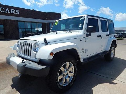 Certified Pre-Owned 2016 Jeep Wrangler Unlimited 75th Anniversary | BOB HOWARD DODGE 405-936-8900 | LEATHER | ALLOYS | POWER PACK | CERTIFIED | HARD TOP