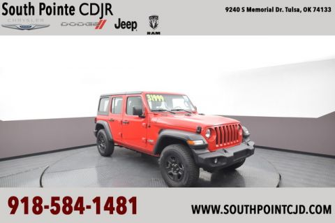 Pre-Owned 2019 Jeep Wrangler Unlimited Sport | CERTIFIED | SOUTH POINTE DODGE