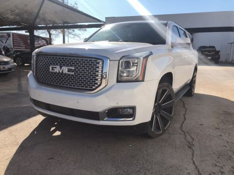 Pre-Owned 2016 GMC Yukon XL LOADED SLT! HEATED AND COOLED LEATHER SEATS! REMOTE START! BLUETOOTH! BLACKED OUT 22 INCH WHEELS!
